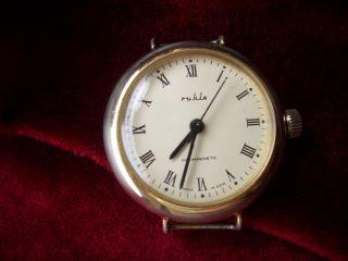 Dachbodenfund;herren - Armbanduhr; Ruhla ;antimagnetic; Ohne Band; Edelstahlboden Bild