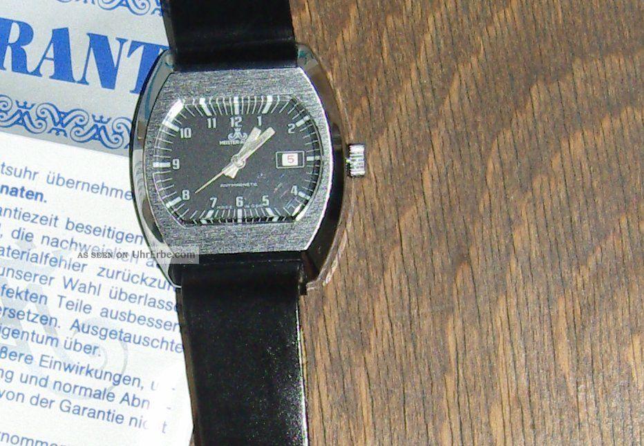 Herrenarmbanduhr Meister - Anker,  Handaufzug,  Funktionstüchtig,  70er Jahre - Gdr Armbanduhren Bild