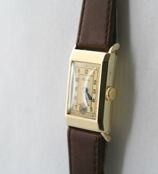 Alpina Herren / Damen Armbanduhr 585 / - Gelbgold,  Handaufzug,  50er Jahre Bild
