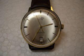 Arctos Elite Alte Herren Armbanduhr 60 ' Er J.  Kal.  Eta 2408 Schöner Gebr.  Zust. Bild