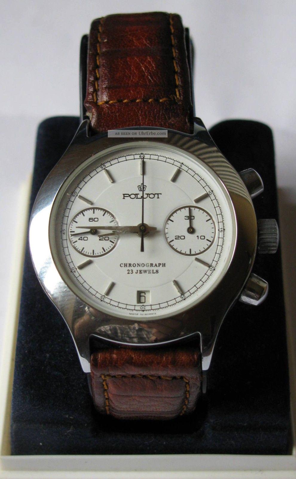 Poljot Chronograph,  Kaufdatum März 2000,  Mit Originalpapieren Aus Donetsk Armbanduhren Bild