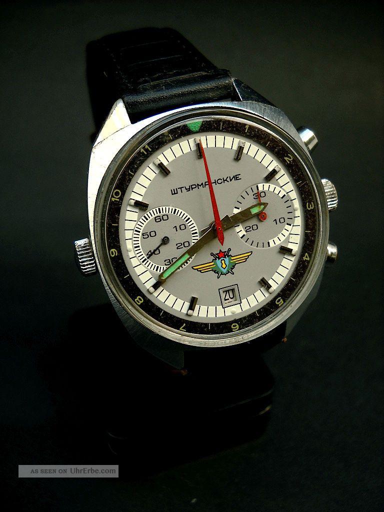 Vintage Poljot Chronograph Sturmanskie Kal 3133 Armbanduhren Bild