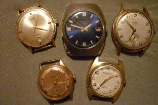 Konvolut Von Uhren 5 Stück Teildefekt Octa Gama Poljot Arctos Exponent Bild