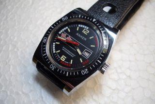 Anker Diver Nos Alte Herren Armbanduhr 70 ' Er J.  Kal.  Gk2350 Sehr Guter Gebr Zust. Bild