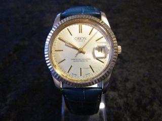 Orion Uhr Handaufzug Vintage Hau Swiss Schweiz 17 Jewels Unbreakable Mainspring Bild