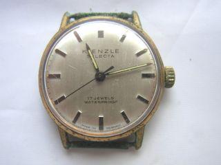Kienzle Selecta 17juwels Waterproof Armbanduhr Goldfarben Bild