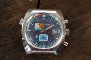 Rarer Vintage Sorna Chrono 70s Chronograph Bild