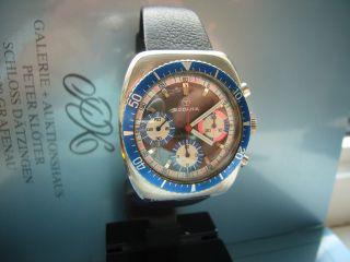 Rare Rodania Taucher Chronograph Valjoux 726 Bild