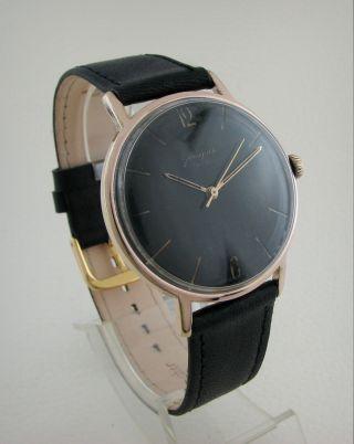 Vintage Black Glashutte.  17 Rubis.  German Classic 70.  1. Bild