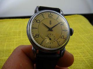 Frühe Gub Glashütte Kaliber 61 Armbanduhr,  Originalzustand Ca.  1947 Bis 1952 Bild