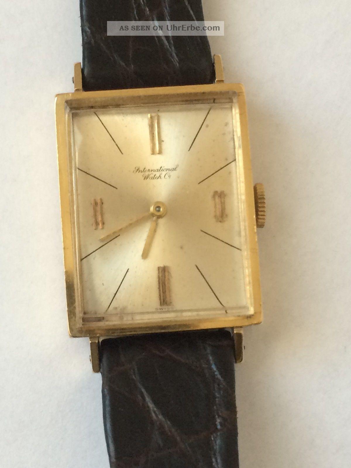 Schöne Iwc Schaffhausen (18k - 750er) Gelbgold Damen Mechanische Uhr Armbanduhren Bild