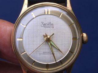 Seltene Mechanische Zentra Herren Armbanduhr Gut Erhalten Läuft Gut Bild