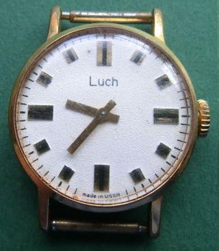 Alte Damenarmbanduhr - Armbanduhr - Luch - Made In Ussr Bild