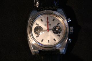 Schweizer Chronograph Preximax Handaufzug / 70er / Edelstahl Reparaturbedürftig Bild