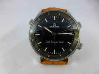 Poljot Armbandwecker,  Kal.  2612.  1,  Handaufzug,  Edelstahl,  Moderne Bild