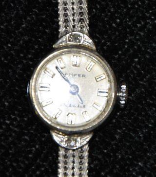 Armbanduhr Anker Weißgold 585/750,  14 K,  Handaufzug,  Ca.  1960 Bild