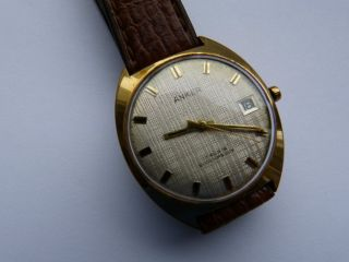 Schöne Herren Vintage Anker,  Deutschland Um 1965,  Hd.  Aufz.  Vergoldet, Bild