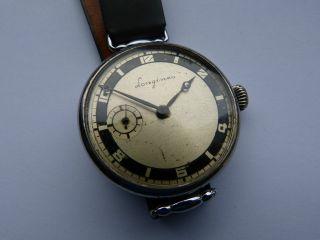 Alte Herren Mariage - Uhr: Longines Mit Omega Werk,  Um1900, Bild