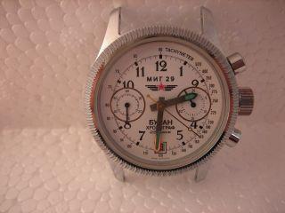Poljot 3133 Mig 29 Fliegerchronograph Handaufzug Mechanisch Chronograph Uhr Bild