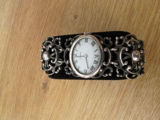 Dugena Damenuhr Handaufzug 70er Jahre,  Silber Bild