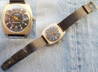 Ruhla Armbanduhr Herren Herrenuhr Uhr Umf 24 Vergoldet Datum Bild