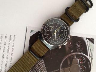 Meister Anker Chrono Uhr Valjoux 7733 Military Design Analog Bild