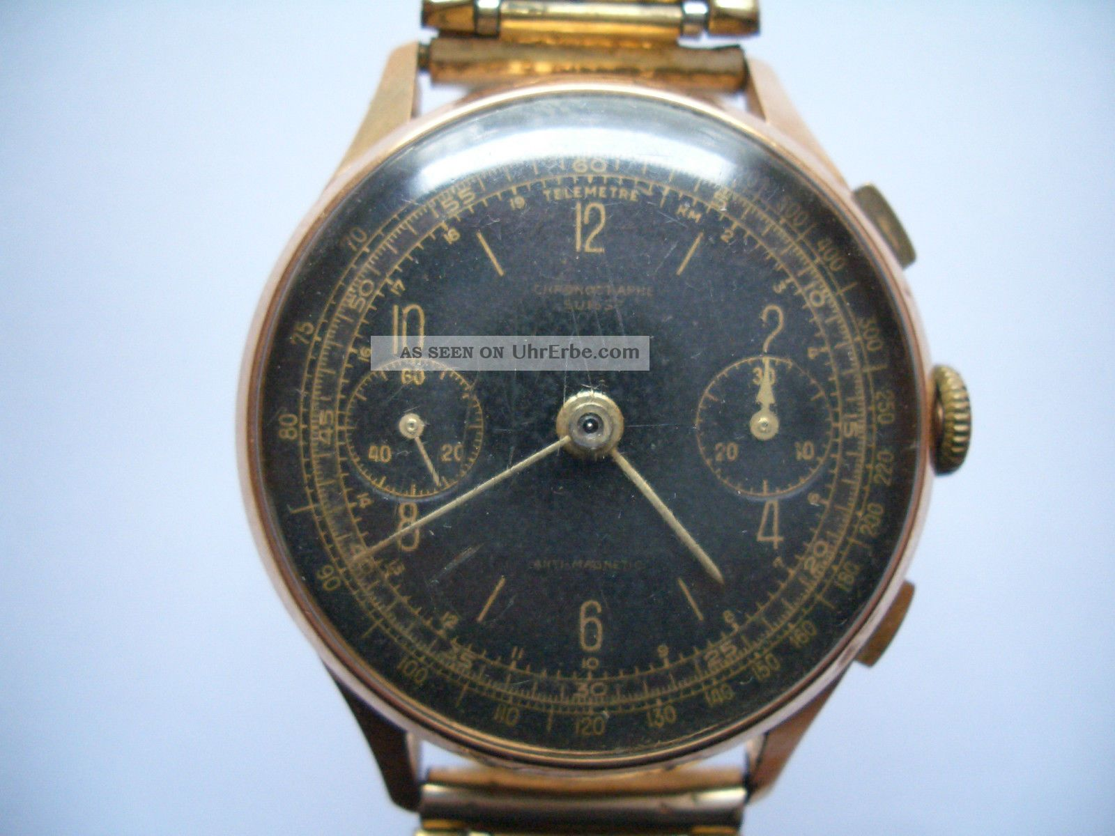 18k 750er Gold Armbanduhr Chronographe Suisse Armbanduhren Bild