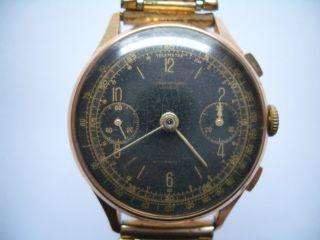 18k 750er Gold Armbanduhr Chronographe Suisse Bild