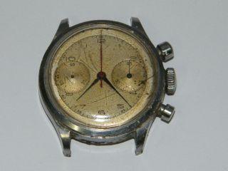 Chronograph Vintage Handaufzug,  Vintage Wrist Watch,  Repair,  Läuft Ungenau Bild