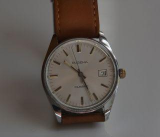 Herren Armbanduhr Dugena Classic - Handaufzug Vintage Sammler Bild
