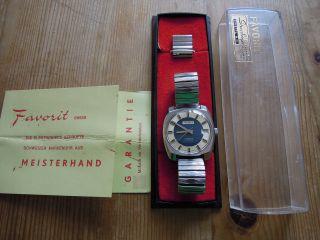 Favorit Hau,  Handaufzugkal.  As1950/51,  Incl.  Box Und Papiere Von 1975 Bild