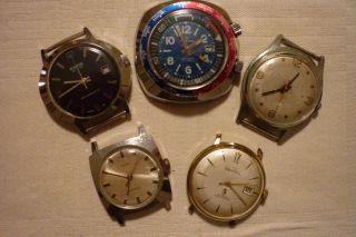 Konvolut Von Uhren 5 Stück Teildefekt Preziosa Timex Premira Rubens Bild