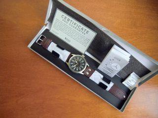 Herren Armband Uhr,  Deutsche Luftwaffe Beobachteruhr,  Kampfgeschwader 26 Ovp Bild