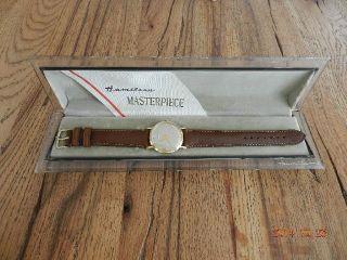 Hamilton Herren Armbanduhr 14 K Gold - Cal.  770 Mit Schatulle Bild