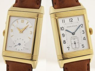 Jaeger Lecoultre Reverso Duo Face Night & Day Herrenuhr 18ct Gold - 270.  1.  54 Bild