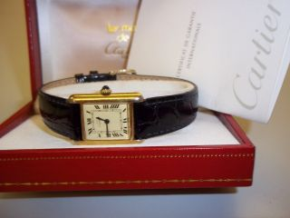 Cartier Tank Solo,  Silber - Vergoldet,  Damenuhr Bild
