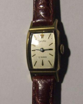 Vergoldete Damenarmbanduhr Zentra,  Handaufzug,  Klassisch - Elegant Bild