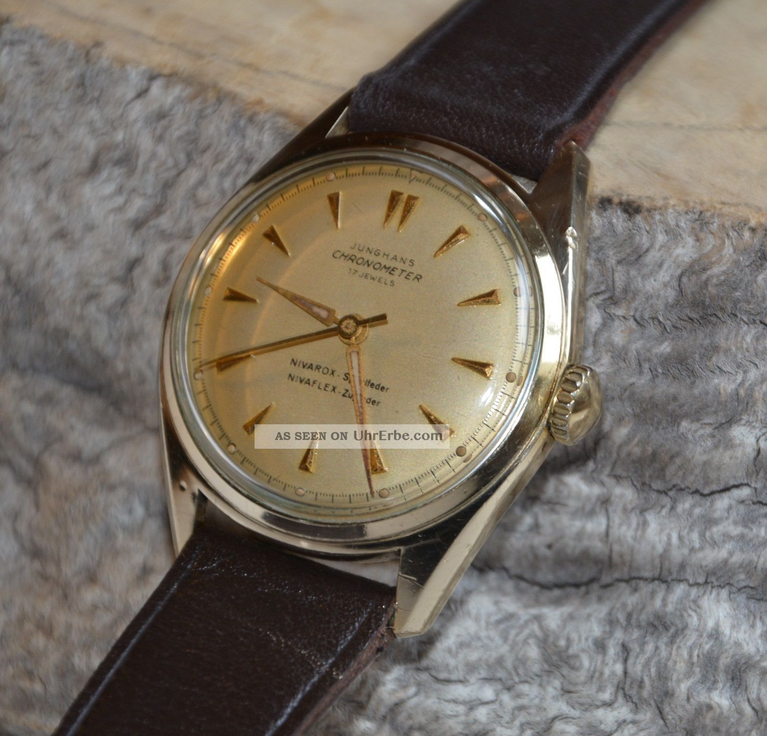 Junghans Chronometer Cal J 82/1 Herrenuhr Aus Den 1950er ...