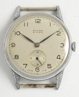 Ancre Schöne,  Antike,  Klassische Schweizer Armbanduhr.  Swiss Made Vintage Watch Bild
