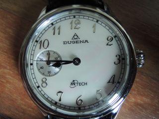 Dugena M Tech Handaufzug Perlmutt Ref 4168100 Herren Armbanduhr Bild