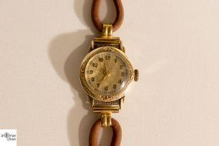 Mido Vergoldete Damen Armbanduhr Sammlerstück Bild