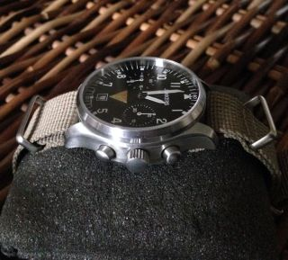 Junkers 6202 - 1 Chronograph Handaufzug Kaliber P3133 Ovp. ,  Papiere,  4 Armbänder Bild