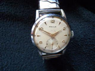 Revue Uhr Vintage Revue Watch 50s Handaufzug Breguet Hairspring Cal.  59 Bild