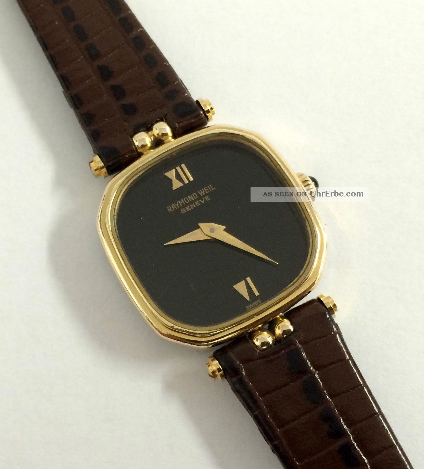 Vintage Raymond Weil Geneve Handaufzug Damen Armbanduhr,  Eta Werk Cal.  2512 - 1. Armbanduhren Bild