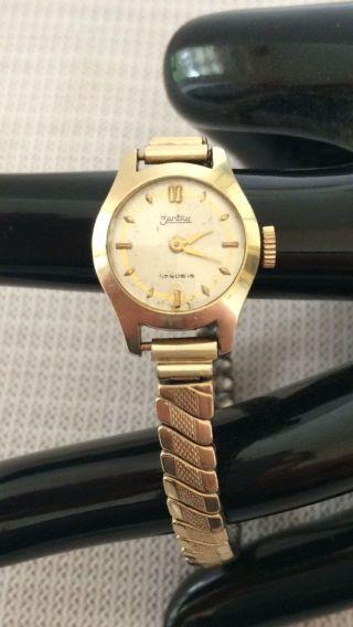 585 Er Gold Uhr Armbanduhr Zentra 17 Rubis Damenuhr Rund Bild