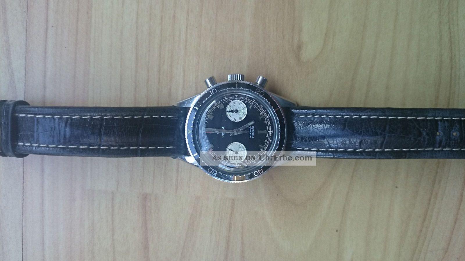 Yema Chronograph Handaufzug Valjoux 7730 Sammlerstück Armbanduhren Bild