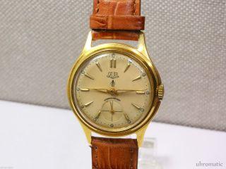 Gub Glashütte Kaliber 60.  2 Güteuhr.  Seltene Herrenuhr /men ' S Wrist Watch/ Bild