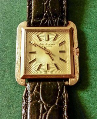 Jules Jurgensen Herrenarmbandsuhr Handaufzug In 14k Gelbgold Bild