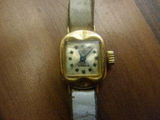 Ruhla Nova Armbanduhr Handaufzug 14 Karat Plaque Bild