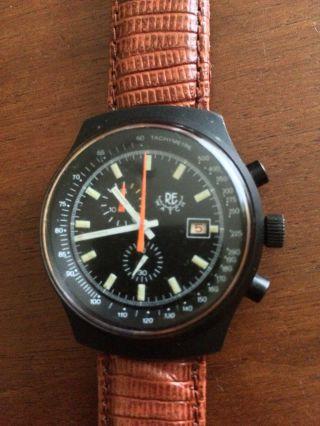 Vintage Re Watch Herrenchronograph Kaliber Eb 8420,  Sehr Schönes Design Bild